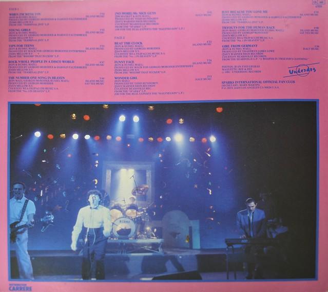 """Sparks - History of Sparks 12"""" LP VINYL"""