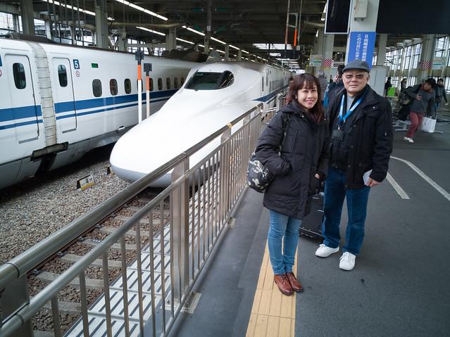 Took the Shinkansen from Shin-Osaka to Hiroshima. Less than 2 hours train ride.