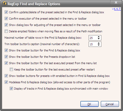 RegExpReplace-4.4.7 - Options