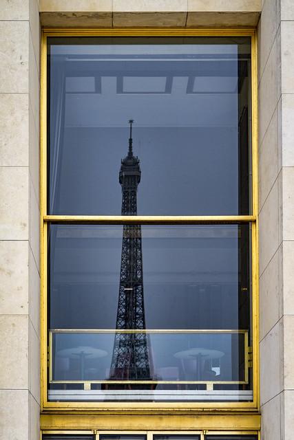 Eiffel Tower reflection