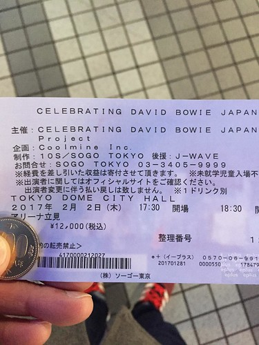 CELEBRATING DAVID BOWIE JAPANに行ってきました