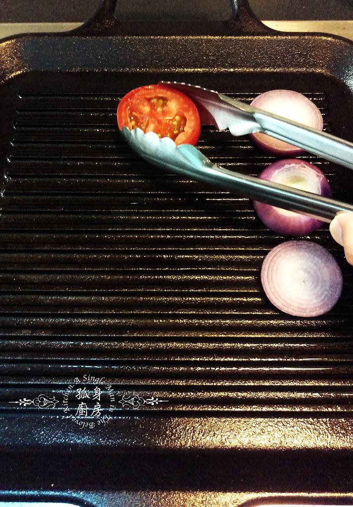 孤身廚房-地中海風味烤黑喉魚佐鑄鐵烤盤烤蔬菜5