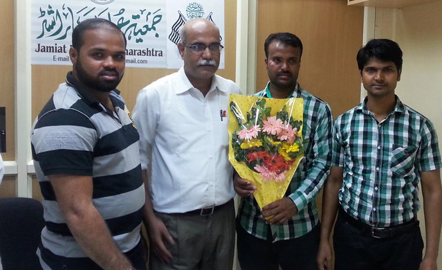 Adv. Pathan felicitated after the release of one of the accused