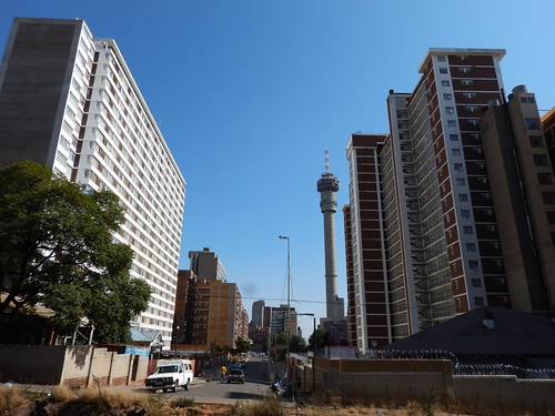 Telkom Tower and streets of Hillbrow