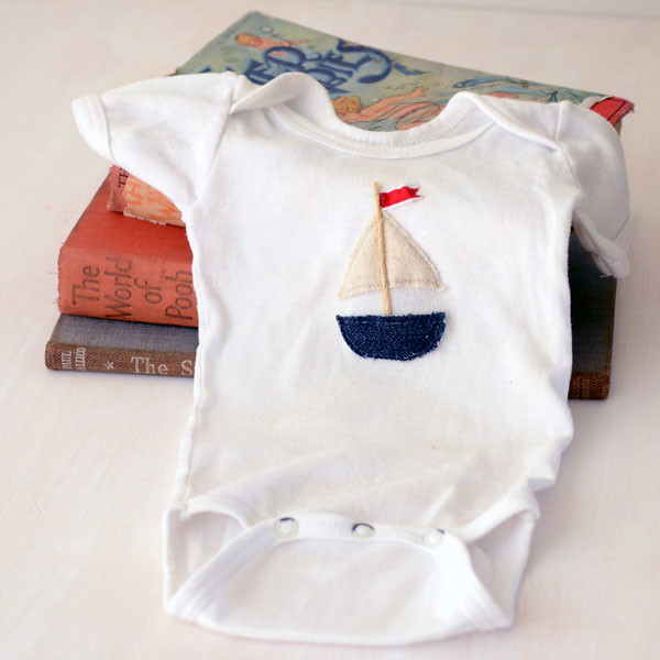 Upcycled gifts for kids Baby suit