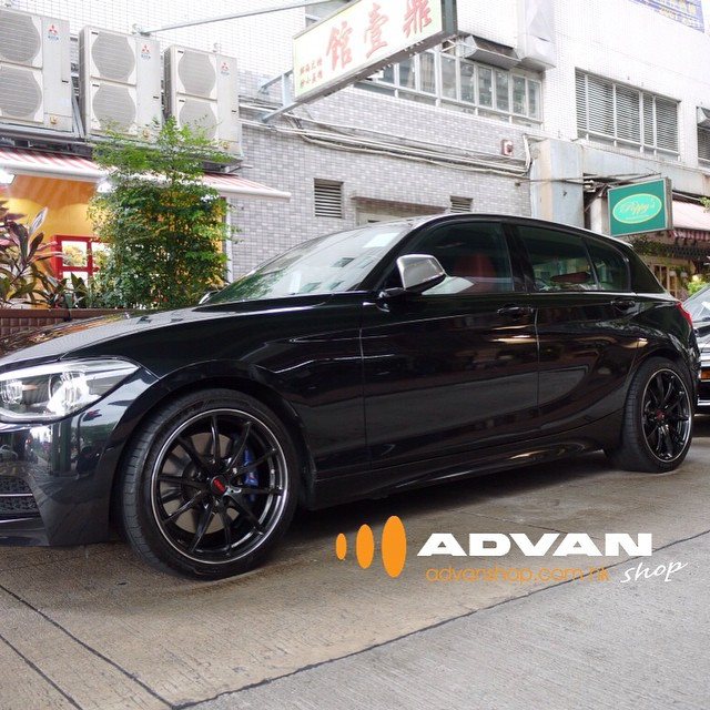 BMW M135i F20 With RAYS TE37 SL Wheels #bmw #135i #rays #g