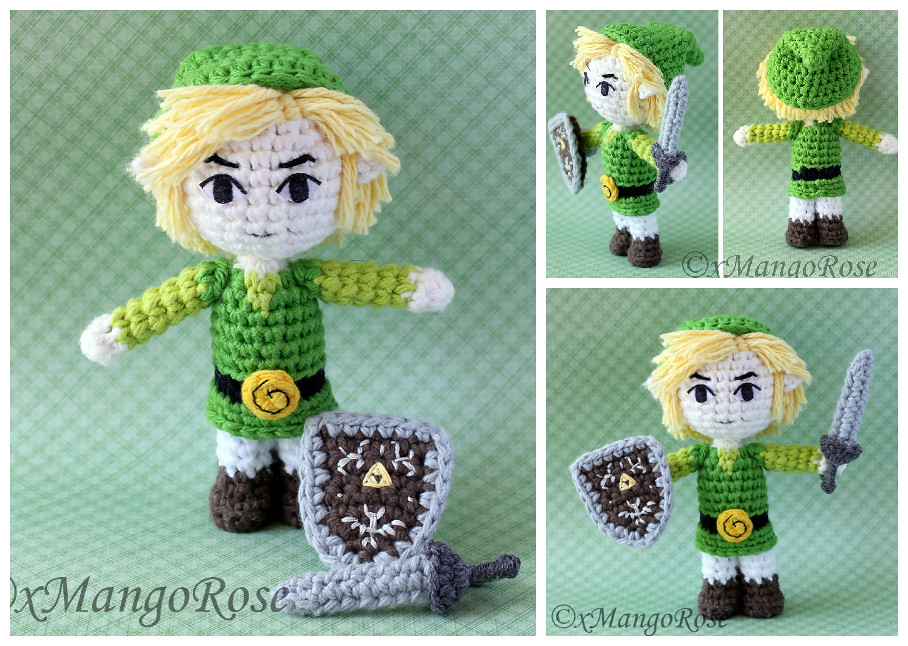Amigurumi Zelda Pattern : Legend of zelda breath of the wild crochet link cosplay arm