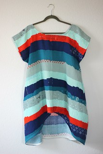 july 15 TG Bloom Dress in cotton and steel dbl gauze hanger | by wandering spirit designs