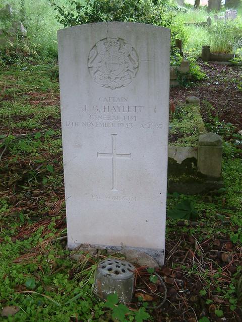Captain J G Haylett General List 1943 Aged 69 | HAYLETT, JOS