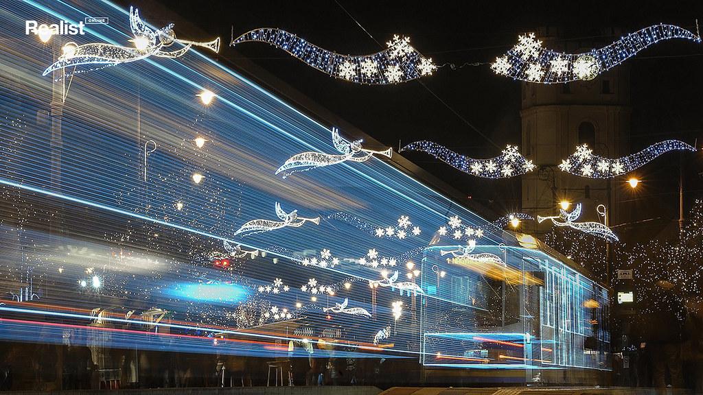 Венгерский рождественский трамвай