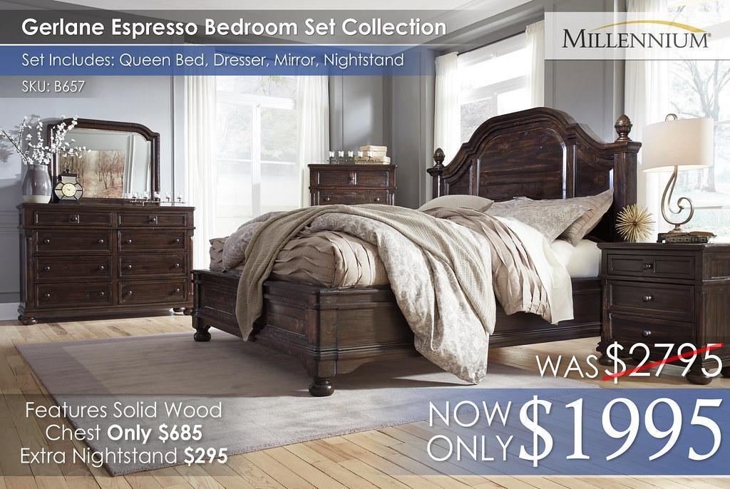 Gerlane Espresso Bedroom Set B657