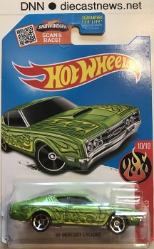 2016 Hot Wheels Mercury Cyclone, HW Flames 10/10