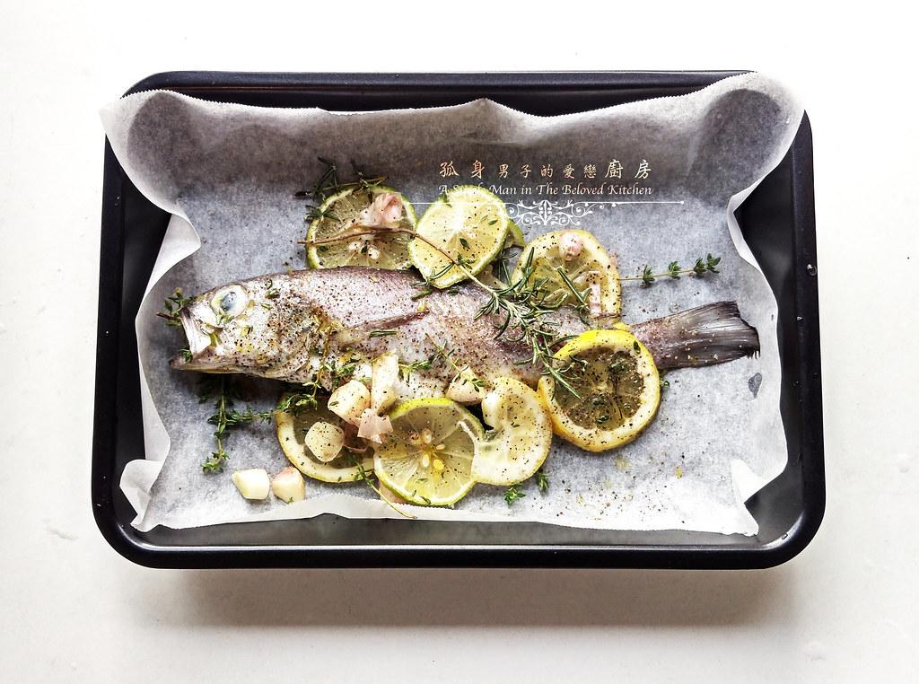孤身廚房-地中海風味烤黑喉魚佐鑄鐵烤盤烤蔬菜3