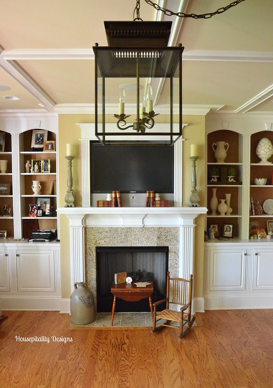 Media Room Fireplace/Bookcases-Housepitality Designs