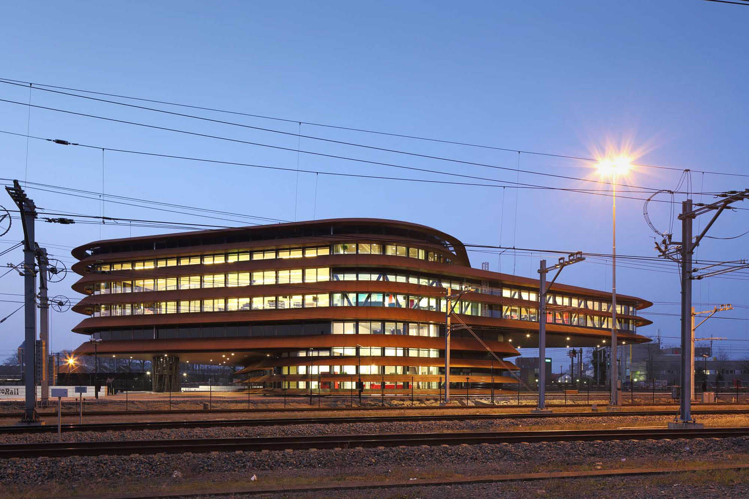 Train Control Centre Utrecht design by ​de Jong Gortemaker Algra