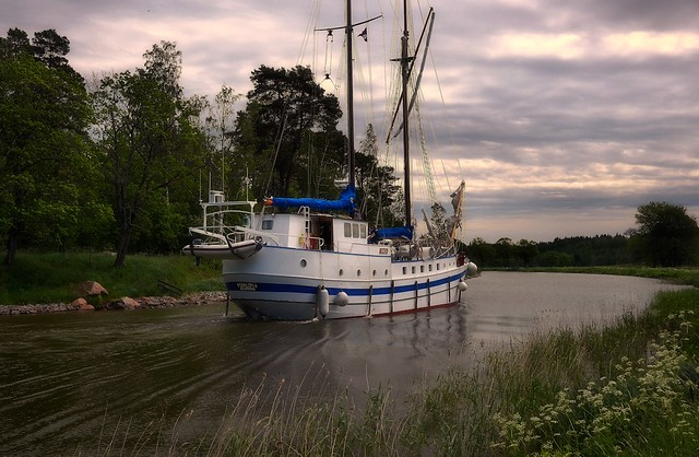 "The gospel ship ""Shalom"" in Gøta (Gota) Canal, Sweden"