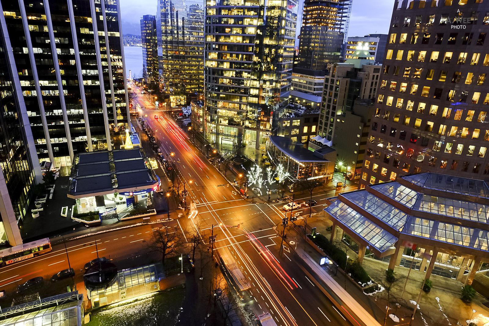 Burrard Street in Vancouver
