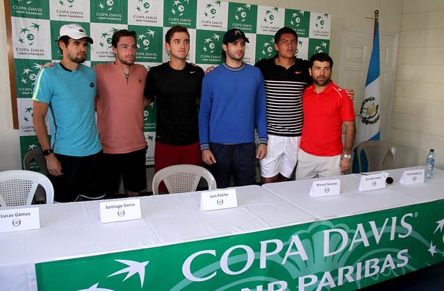 Presentación Copa Davis, GUA vs MEX