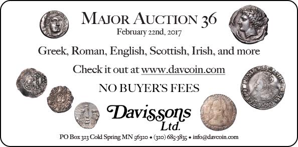 Davisson E-Sylum ad Sale36 2017-01-29