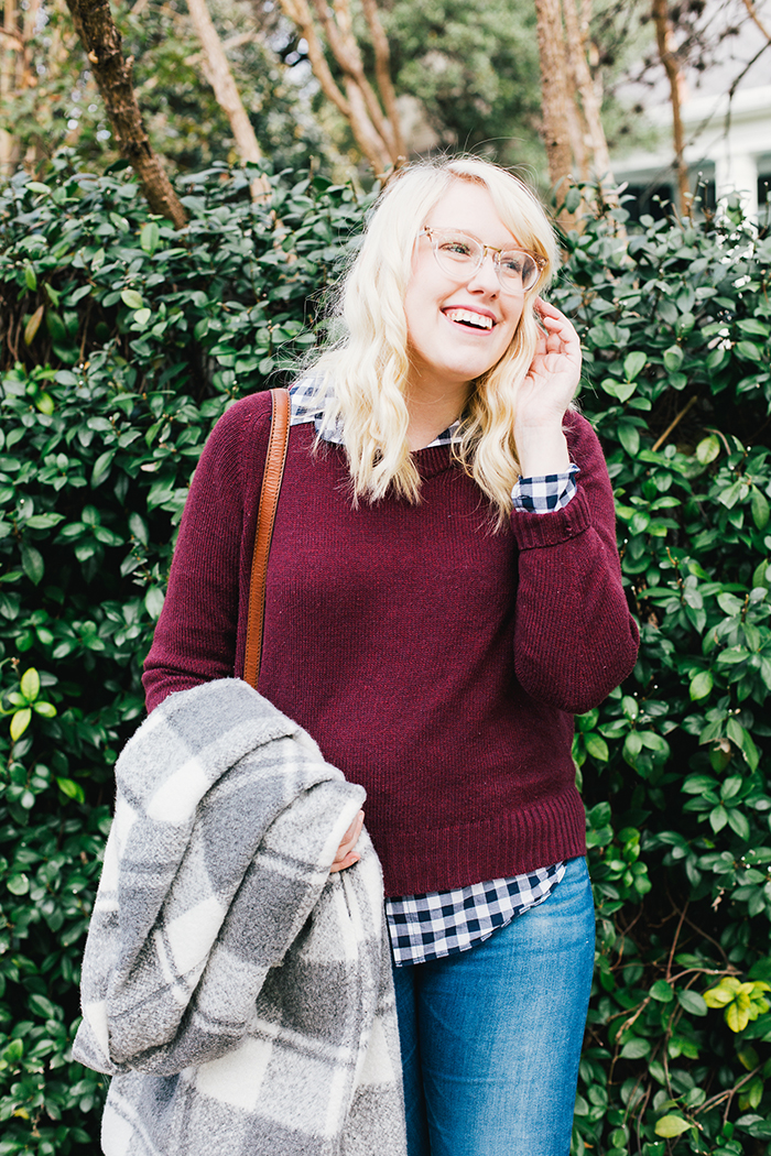 austin style blogger gingham winter outfit15