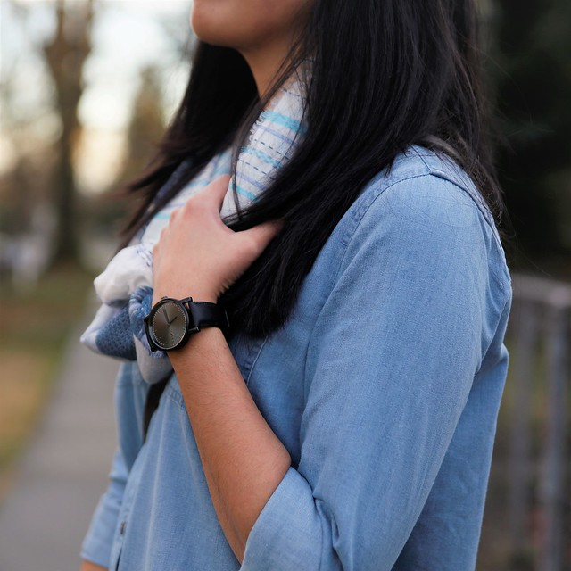 outfit details: Arvo watch & circle scarf