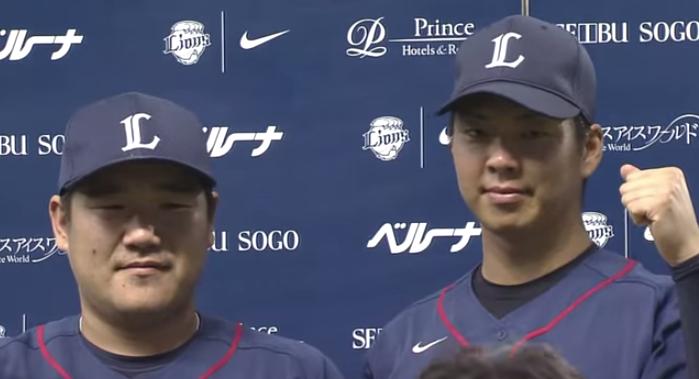 【プロ野球パ】中村が「痩せます」宣言、十亀と中村のヒーローインタビュー 2015 07 04 L-M - YouTube