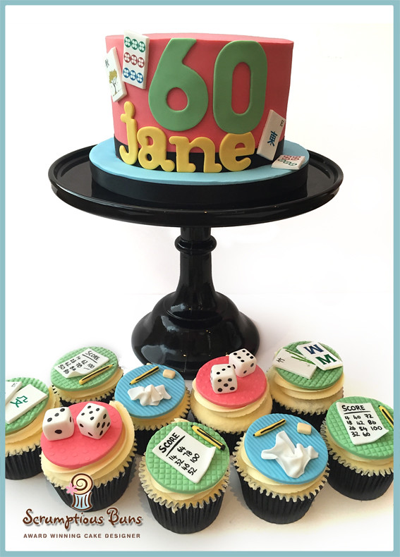 Mahjong Birthday Cake Cupcakes Samantha Douglass Flickr