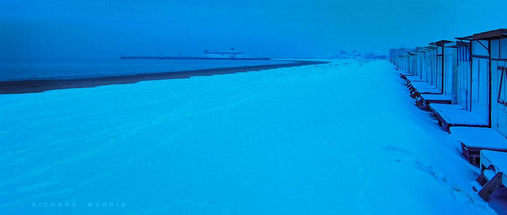 Blerio Plage, Pas de Calais, France. | Snow covered Blerio P… | Flickr