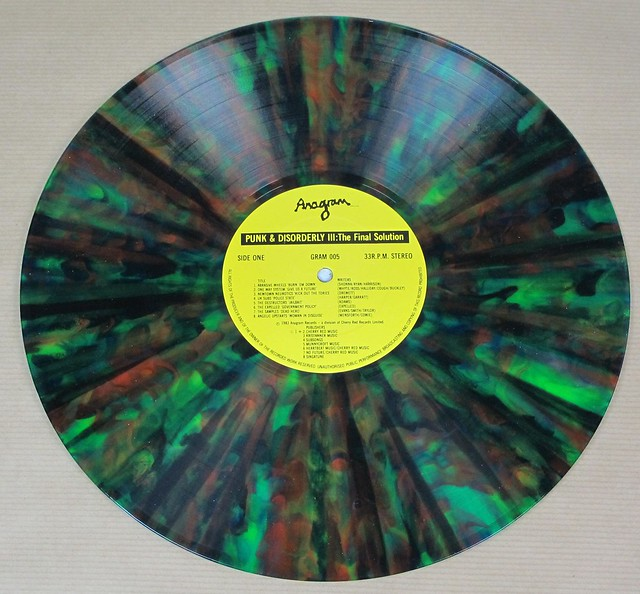 """PUNK AND DISORDERLY III THE FINAL SOLUTION SPLATTER COLOUR 12"""" LP VINYL"""