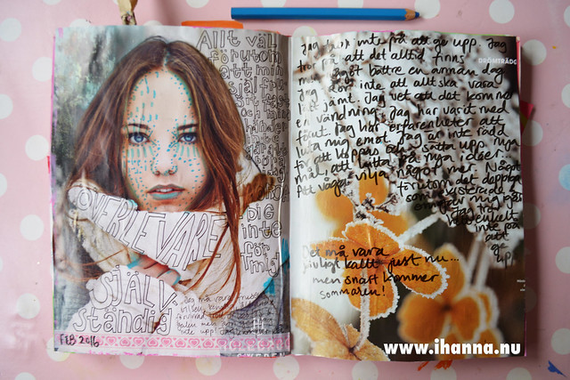 Art Journal | Writing and doodling on a magazine page (finished) by iHanna