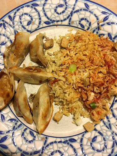 Pork Fried Rice and Dumplings