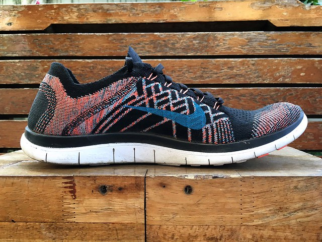 Nike Free 4.0 Flyknit 2015 after 370 Km run
