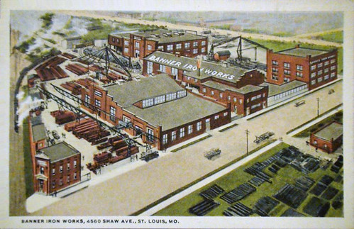 Banner Iron Works postcard