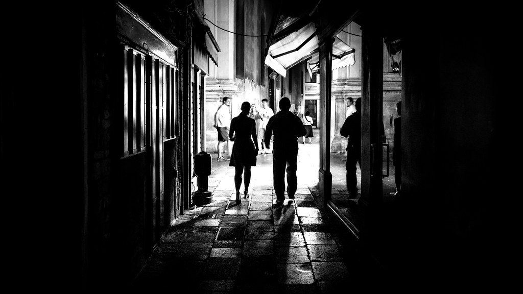 From the dark venice italy black and white street photography by giuseppe