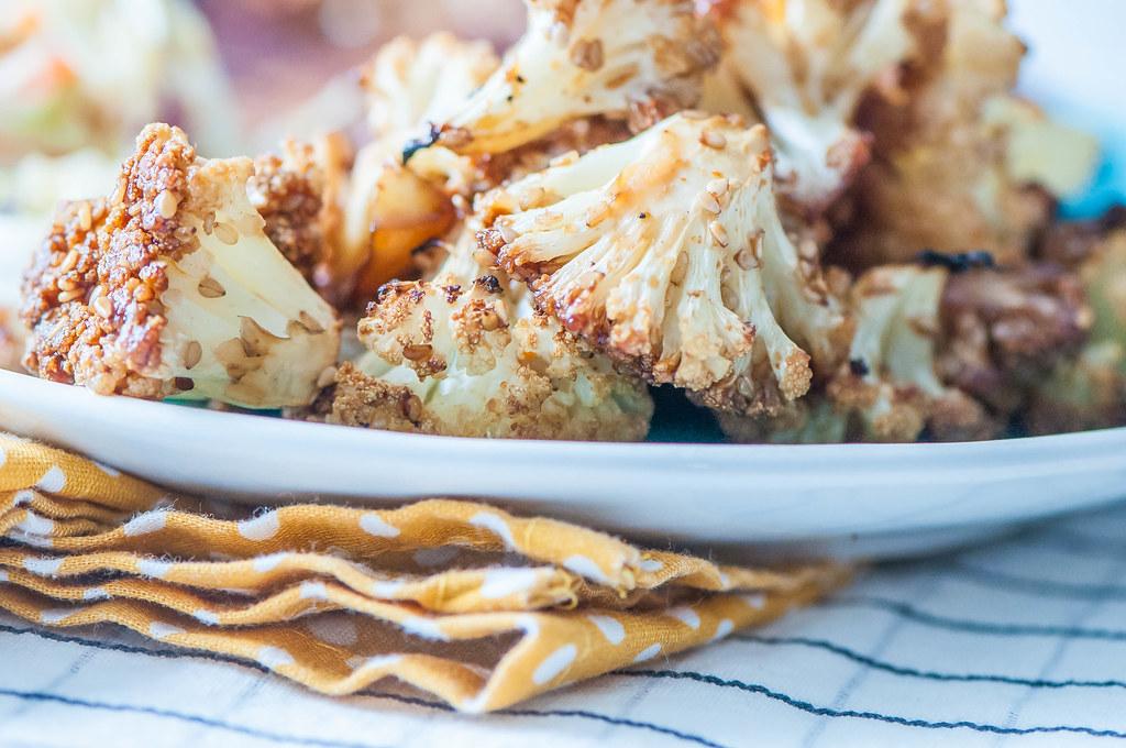 Honey Sesame Roasted Cauliflower 2