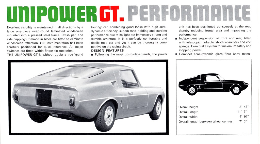 1967 Unipower GT | Approximately 75 of these cars were built… | Flickr