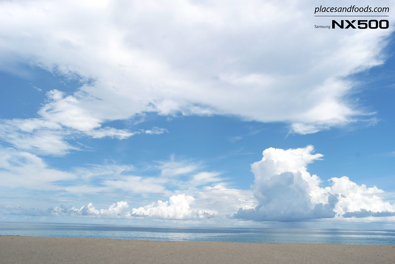 naithorn beach phuket blue cloudy sky