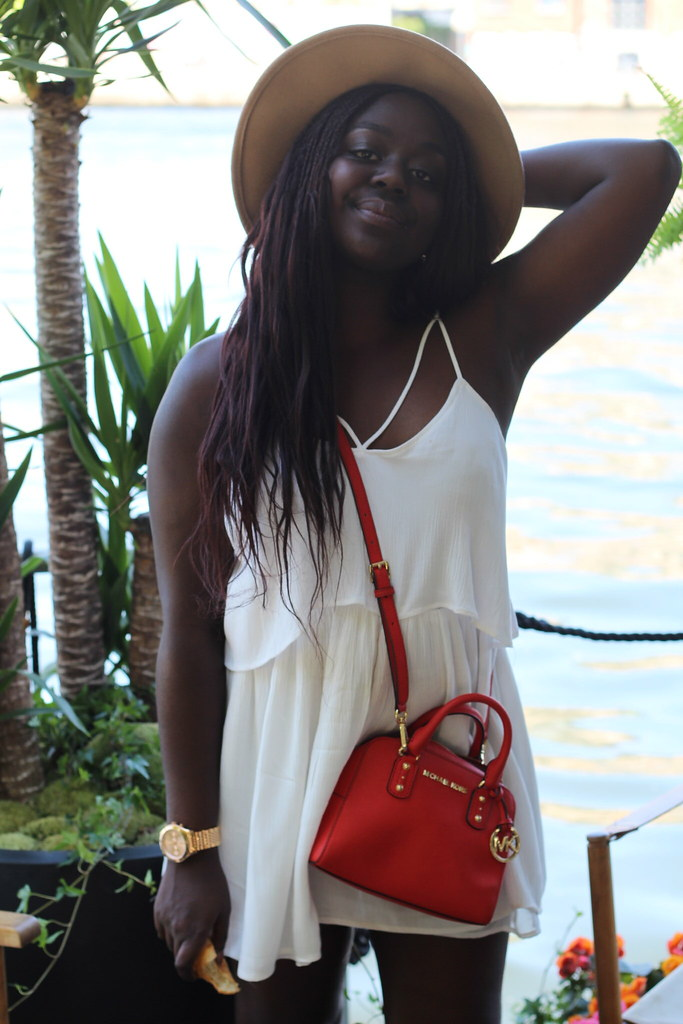 Lois Opoku white dress summer michael kors lisforlois