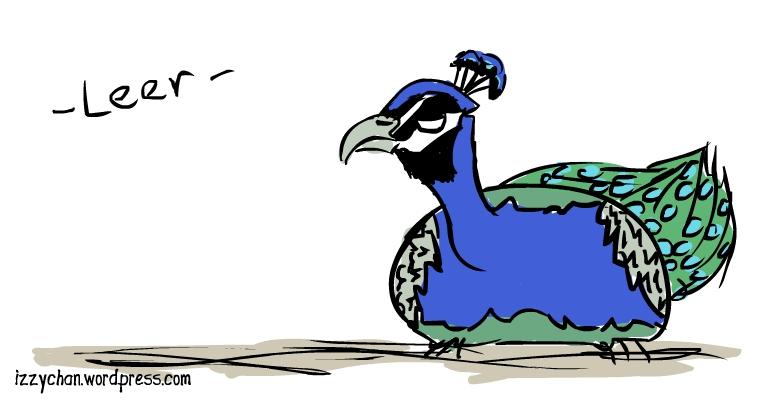 peacock leer