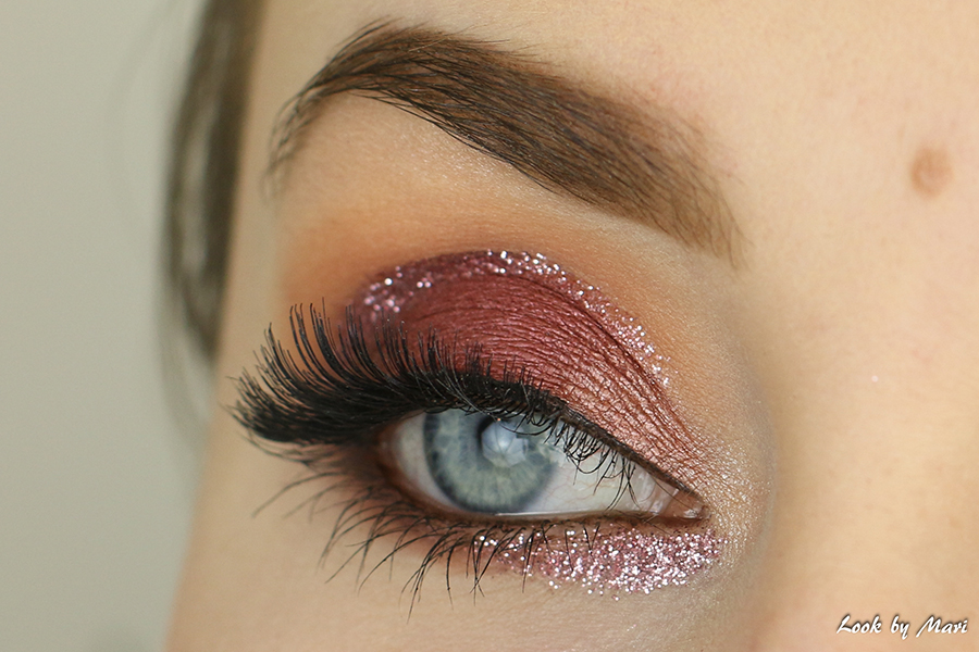 4 mauve pink red eye makeup ideas tutorial tutorials with loose glitter pink makeup look