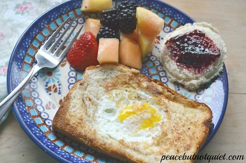 Egg Breakfast Recipes (Photo from Peace...but not Quiet)