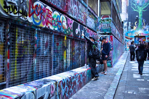 Street art or graffiti? Hosier Lane, Melbourne.