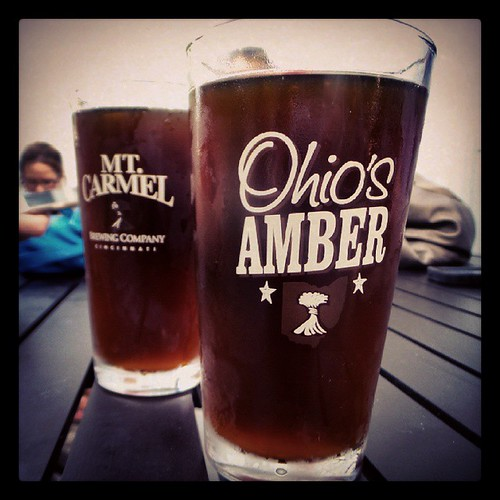 We went out to #MtCarmelBrewery for the tapping of their Peanut Butter Brown. Great stuff!