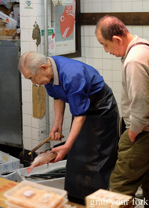 Fishmonger at Nishiki Market, Kyoto
