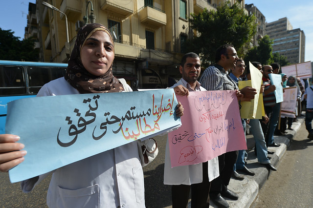 EGYPT-DOCTOR-LABOUR-STRIKE