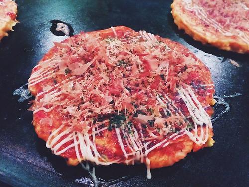 Okonomiyaki in Kyoto