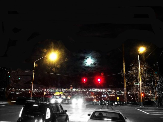 The Wolf Moon. Tacoma, WA. 1/11/2017