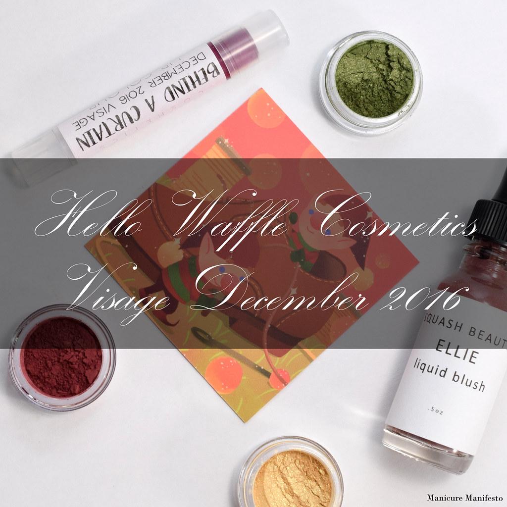 Hello Waffle Cosmetics Visage January 2017 review