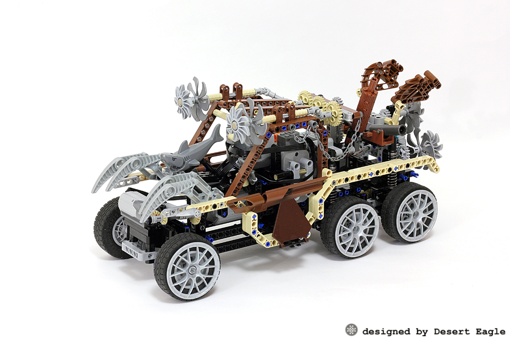 moc 6x6 steampunk off roader lego technic and model. Black Bedroom Furniture Sets. Home Design Ideas