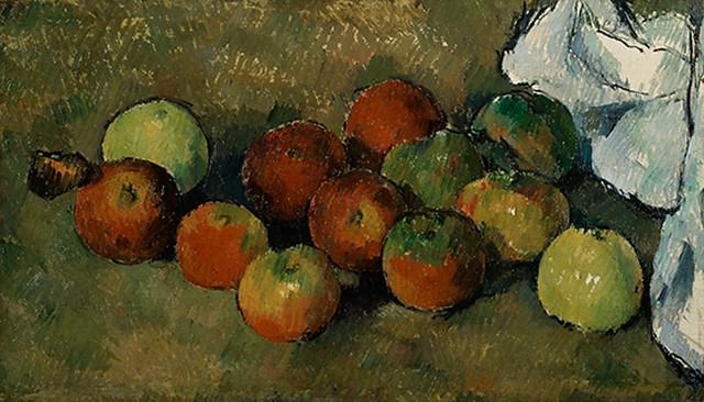 ポール・セザンヌ《リンゴとテーブルクロス》(1879-80年、三菱一号館美術館寄託)